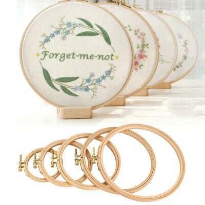 Hand Embroidery Hoop Wood Circle Frame for Cross Stitch Embroider Needle Art EB