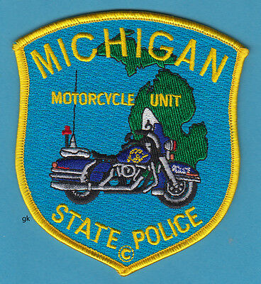 Michigan State Motorcycle Unit Harley Police Patch