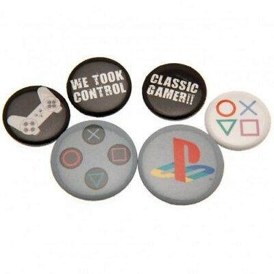 Playstation Six Button Badges Set with Free UK P&P