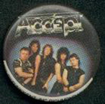 Accept Metal Rock Music Old 1989 Pin Button