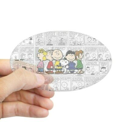 CafePress - The Peanuts Gang - Oval Bumper Sticker, Euro Oval Car Decal