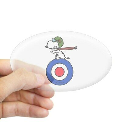 CafePress - Flying Ace Snoopy - Oval Bumper Sticker, Euro Oval Car Decal