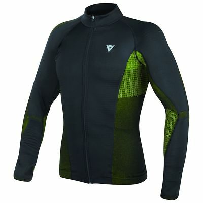 Dainese D-Core No Wind Dry Mens Long Base Layer Shirt Black/Fluo Yellow