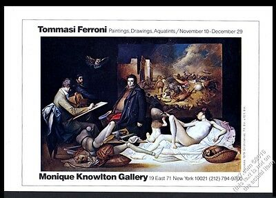 1979 Tommasi Ferroni painting NYC gallery show vintage print ad
