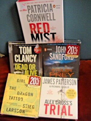 NEW MIXED Lot Audio Books On CD James Patterson Clancy Suspense Thriller Crime