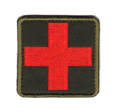 Army Combat Tactical Morale Medic First Aid Patch Olive Red Cross Paramedic
