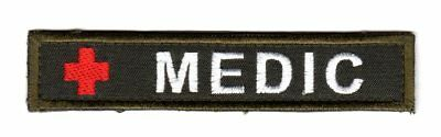 Army Tactical Morale Medic First Aid Patch Olive Red Cross Paramedic EMT EMS