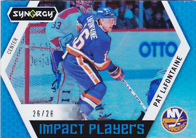 17-18 Upper Deck Synergy Pat Lafontaine 26/26 BLUE Impact Players 2017