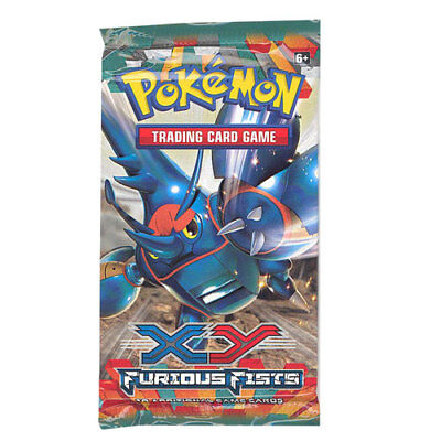 Pokemon Cards - XY Furious Fists - Booster Pack (10 cards) - New Factory Sealed