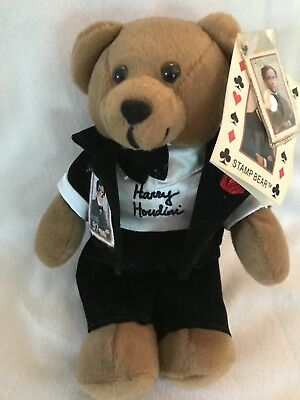 Harry Houdini Collectible Stamp Bear 2002 Usps Artist Bears