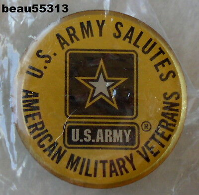Us Army Salutes American Military Veterans Vest Jacket Hat Pin