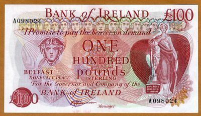 Bank of Ireland, Northern, 100 pounds, ND (1980s), P-68b, Ch UNC > Rare