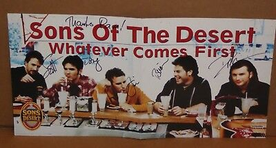 Sons of the Desert hand signed autographed 12 x 12 LP record album flat 5 member