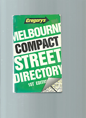 Gregory's Melbourne Compact Street Directory 1St Edition 1991