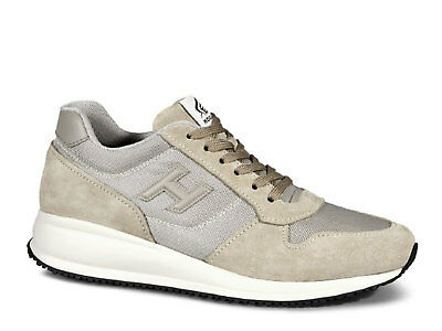 8c78e047fb1 Hogan men's sneakers shoes in beige suede leather and fabric Size US 7 - EU  40