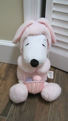 Peanuts Snoopy Easter bunny with basket Snoopy plush toy