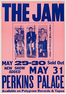 The Jam Perkins Palace Concert Poster (1983). Very Rare.... A3 Size Repo