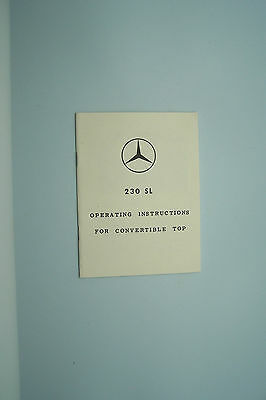 Mercedes 230 SL Owners Manual sales brochure top Supplement  Pagoda w113
