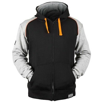 Speed & Strength Cruise Missile Mens Armored Hoody Gray/Orange 3XL