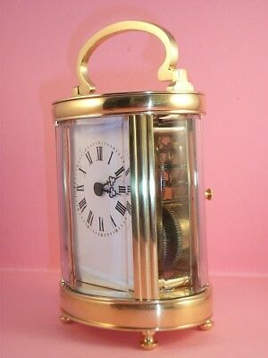 Antique French carriage clock C 1910. Key. Fully cleaned & serviced in May 2018.