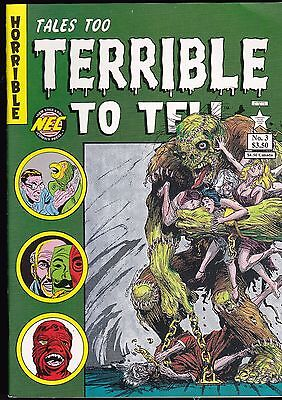 TALES TOO TERRIBLE TO TELL 3 PRE-CODE HORROR COMICs REPRINTS TERROLOGY