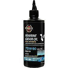 OUTBOARD GEAR OIL BLUE COLOUR PENRITE GL5 FULL SYNTHETIC 500 MlL SQUEEZE BOTTLE