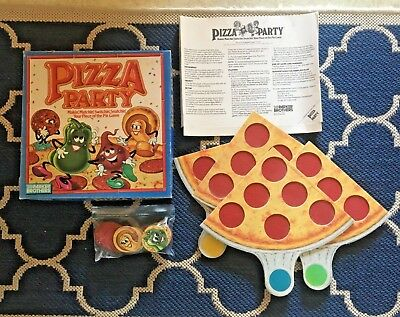 Pizza Party Game By Parker Brothers 1987 Vintage Board 100 Complete