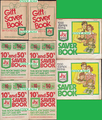 8 Assorted Filled (Full) So-So S&h Green Stamp Saver Book B2G1F 1917Cq