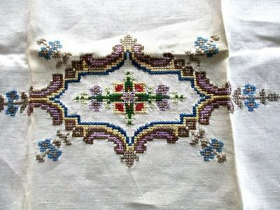 Hand Made Guest/ Hand Towel  Runner  Petit Point Bucilla Embroidery