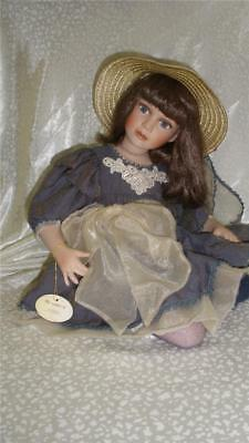 Stunningquality  Bisque Porcelain Doll Sitting Pose Vivien