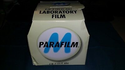 "Parafilm Pm-996 Laboratory Sealing Film 4"" X 125' Roll Surgical Medical Vet Lab"