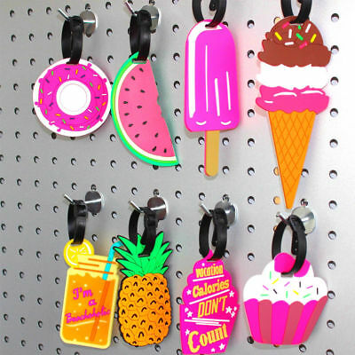 1Pc Cartoon Fruit Travel Luggage Bag Name Address ID Label Suitcase Baggage Tags