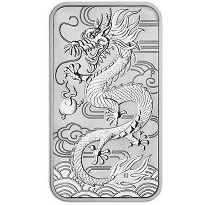 2018 Australian Dragon 1oz Silver Rectangle Coin