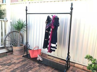 Quality Vintage Style Iron Clothes Dress Garment Rack Shelf Display DRS003BS-BLK