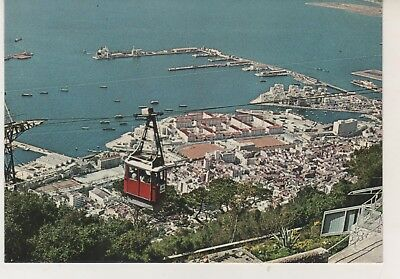 Gibraltar Town & Harbour. Cable Car.  Postcard in GC. Unwritten and Unposted