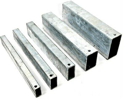 GALVANISED Steel RECTANGULAR Box Section 5 Sizes & 6 Lengths Available