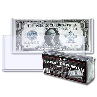 5 loose BCW Large Currency Dollar Bill Topload Holder Storage protection