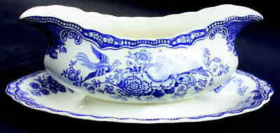Crown Ducal BRISTOL BLUE Gravy Boat & Underplate 91501