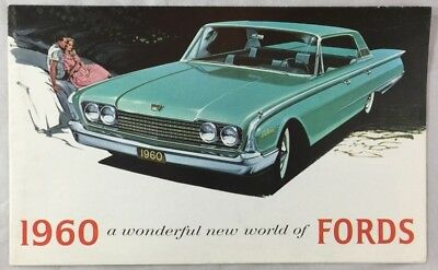 Original 1960 Ford Car Auto Brochure Galaxie Thunderbird Falcon Sunliner +