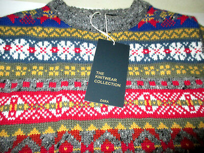 Nwt Zara Knitwear Collection Kids Pullover Crew Neck Sweater Usa Sz S