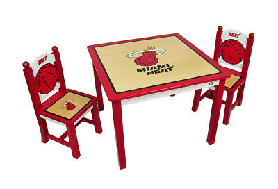 Miami Heat Kids Table and Chairs Set Officially Licensed