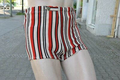 ERIMA Badehose gestreift 70s swimming trunks TRUE VINTAGE bathing shorts 70er