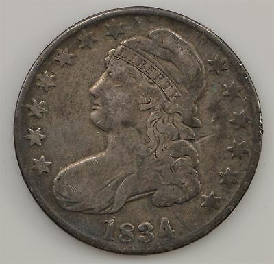 1834 Capped Bust *Large Date, Small Letters* Silver Half Dollar *Q47