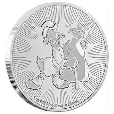 Niue 2 Dollar 2018 - Disney™ - Dagobert Duck™ - 1 Oz Silber ST