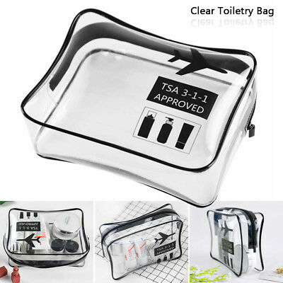 Holiday Travel Toiletries Bags Clear Plastic Airline Airport Toiletry Bag wniu