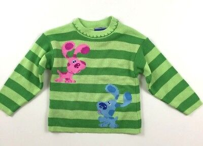 Blues Clues 2t Magenta Dog Green Striped Sweater Steve Shirt Top