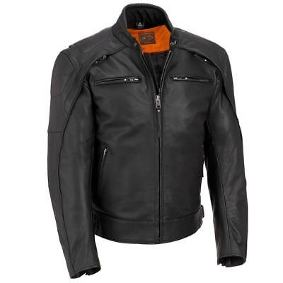Wilsons Leather Mens Vented Performance Leather Motorcycle Jacket
