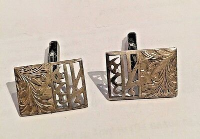 Vintage Japanese 950 Sterling Silver Cuff Links