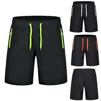 Plus Size Mens Summer Shorts Board Shorts Knee Length Zipper Pocket Beach Shorts