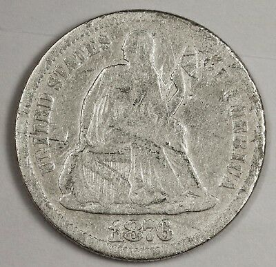 1876-s Liberty Seated Dime.  Circulated.  119465